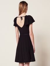 Robe Courte En Maille : Robes couleur Noir