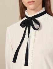 Camicia in seta con nastro : Top & Camicie colore Ecru