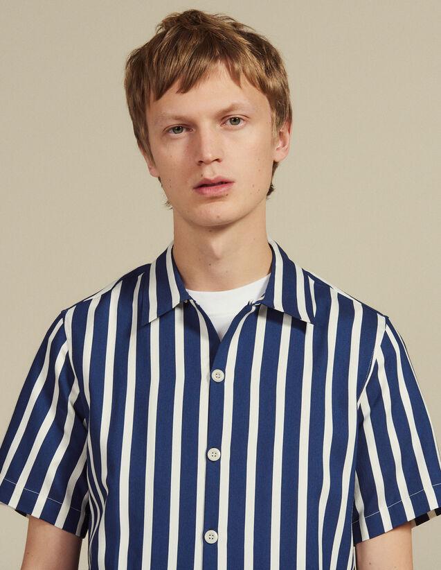 Camicia Maniche Corte Righe A Contrasto : LastChance-RE-HSelection-Pap&Access colore Blu Marino