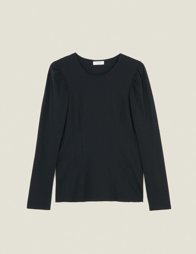 T-Shirt In Jersey Con Inserti : Magliette colore Nero
