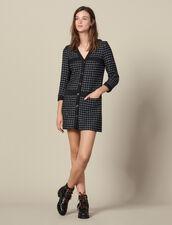 Abito cappotto corto in tweed : LastChance-ES-F40 colore Blu Marino
