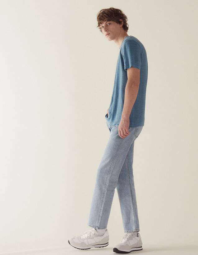 T-Shirt In Lino : Magliette & Polo colore Nero Di Seppia