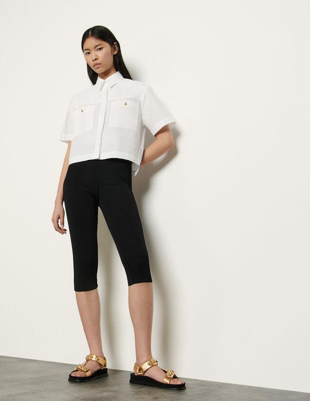 Pantaloni alla pescatora in maglia : Pantaloni colore Nero
