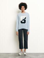 Pullover con iniziale : Maglieria & Cardigan colore Ciel