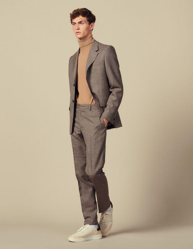 Pantaloni Da Completo Pied-De-Poule : Abiti & Smoking colore Cammello