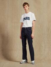 Pantalon Avec Surpiqures Contrastées : JP-UK-HSelectionPAP couleur Marine