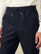 Pantaloni Da Città In Lana : Pantaloni & Short colore Blu Marino