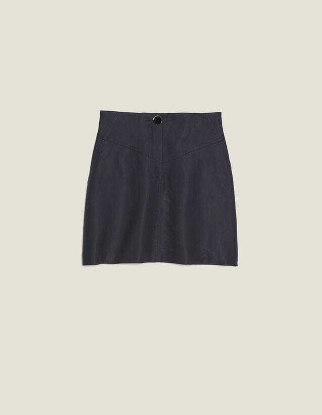 Jupe Trapèze Avec Un Bouton Bijou : LastChance-FR-FSelection couleur Marine