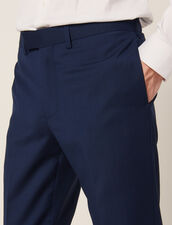 Pantaloni Da Completo In Lana E Mohair : Sélection Last Chance colore Blu