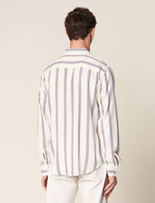 Camicia A Righe A Maniche Lunghe : Collezione Estiva colore Ecru