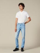 Jeans Slim Délavé : Collezione Inverno colore Blue Vintage - Denim