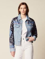 Giacca In Jeans Con Inserti Stampati : null colore Blue Vintage - Denim