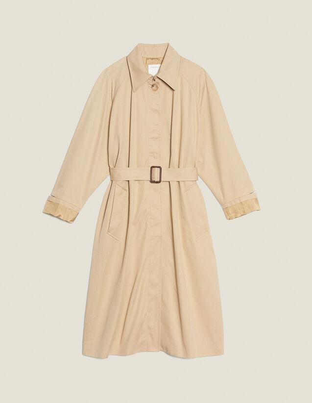 Cappotto Lungo Stile Trench : null colore Beige