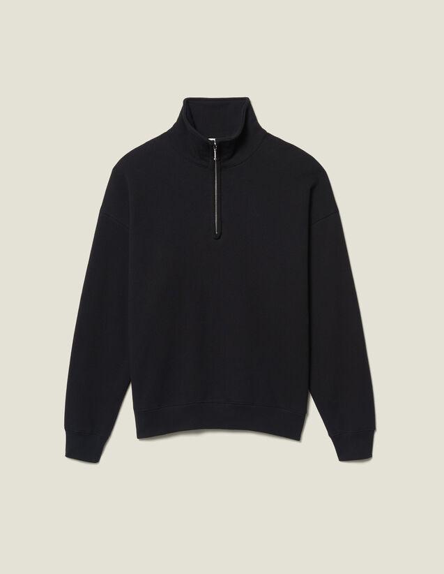 Pullover Con Collo Alto : -50% colore Nero