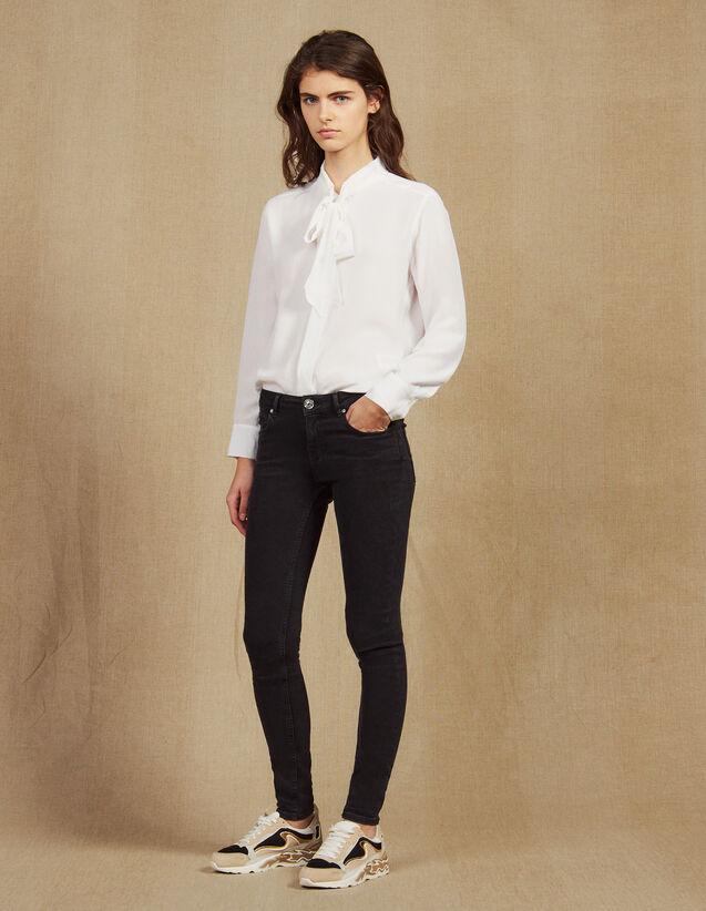 Jeans Slim Vita Normale : Jeans colore Nero