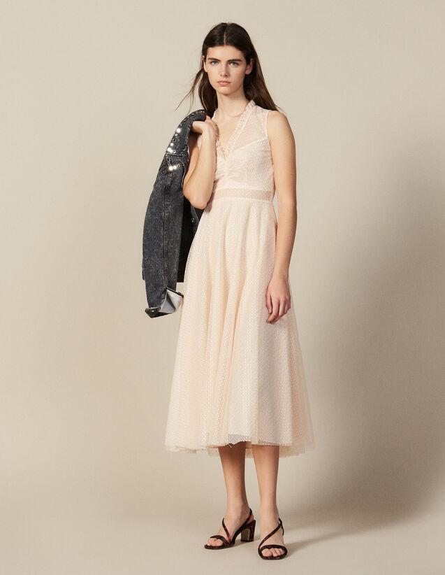 Robe Longue En Tulle Brodé : FNouveautés-Master couleur Rouille