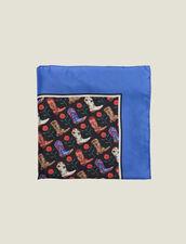 Foulard Seta Stampa Mini Stivali Cowboy : Sciarpe colore Blu