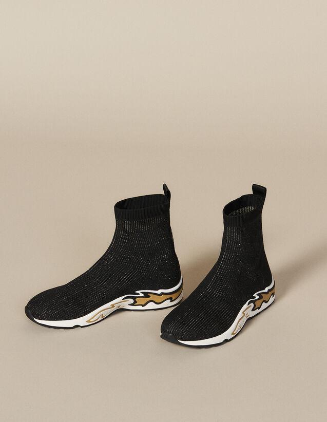 Sneaker Calzino Flame : Novità colore Nero/oro