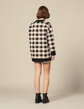 Cardigan-cappotti ampio a quadri : Maglieria & Cardigan colore Beige
