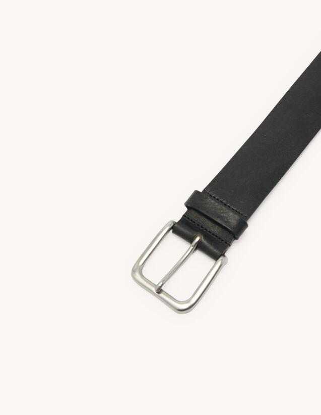 Cintura casual in pelle : Cinture colore Nero