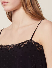 Top Lingerie In Jacquard Tono Su Tono : Top & Camicie colore Nero