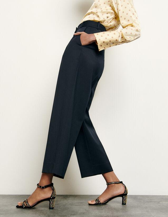 Pantaloni da tailleur in lana : Collezione Estiva colore Blu Marino