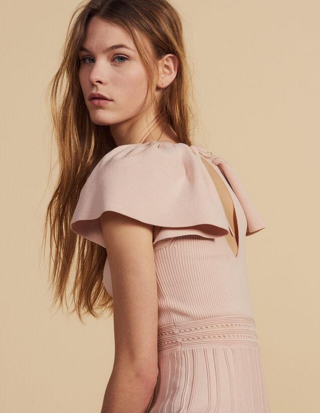 Robe Courte En Maille : Robes couleur Poudre