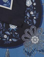 Foulard In Seta Stampata : Sciarpe colore Blue jeans