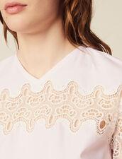 Top Con Inserto In Pizzo : Top & Camicie colore Rosa