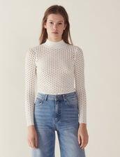 Pullover A Maniche Lunghe In Rete : Maglieria & Cardigan colore Bianco