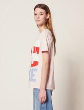 T-Shirt Con Scritta Born To Love : null colore Rosa