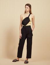 Pantalon Cargo : null couleur Noir