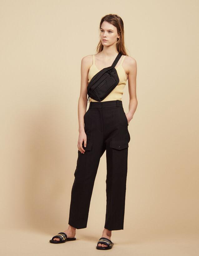 Pantaloni Cargo : null colore Nero