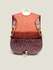 Borsa Pépita Piccola In Pelle Verniciata : L'intera collezione Invernale colore Leopard orange