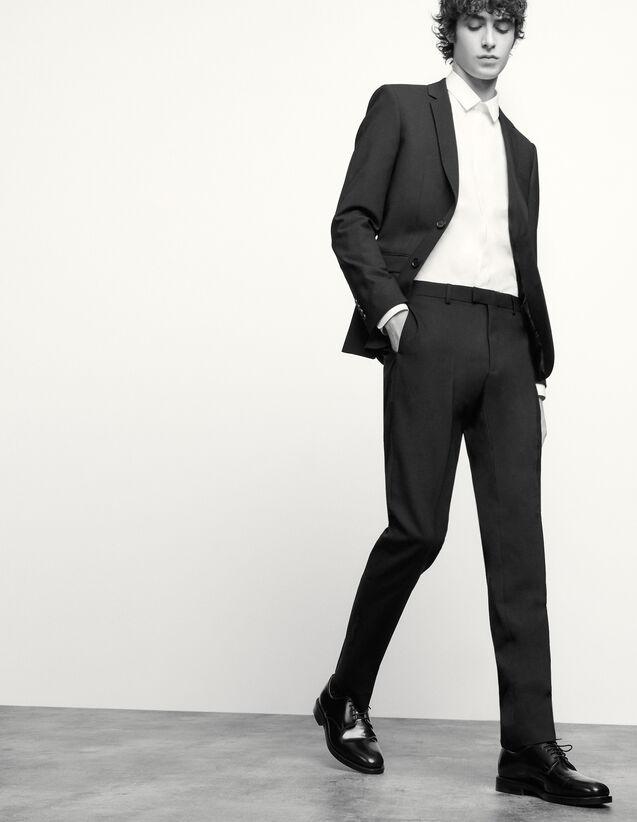 Pantaloni da completo classici in lana : Abiti & Smoking colore Blu Marino
