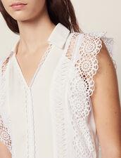 Robe Midi Ornée De Galons De Dentelle : LastChance-FR-FSelection couleur Ecru