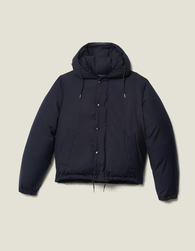 Piumino Corto Con Cappuccio : Trench & Cappotti colore Blu Marino