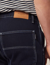 Pantalon En Denim Avec Surpiqures : Sélection Last Chance couleur Blue Night - Denim