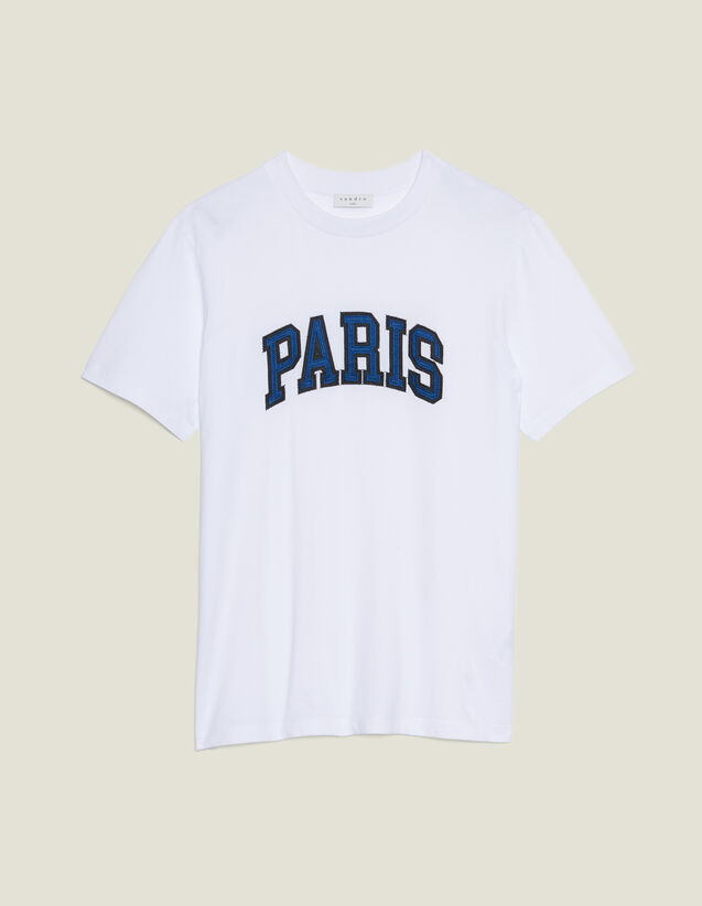 T-Shirt Avec Patch À Messages : T-shirts & Polos couleur blanc