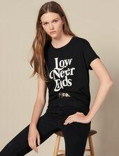 T-Shirt Con Scritta A Contrasto : FBlackFriday-FR-FSelection-30 colore Nero