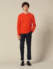 Pullover In Lana E Cashmere : Maglioni & Cardigan colore Arancio