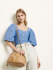 Camicia con maniche a sbuffo : Top & Camicie colore Blu