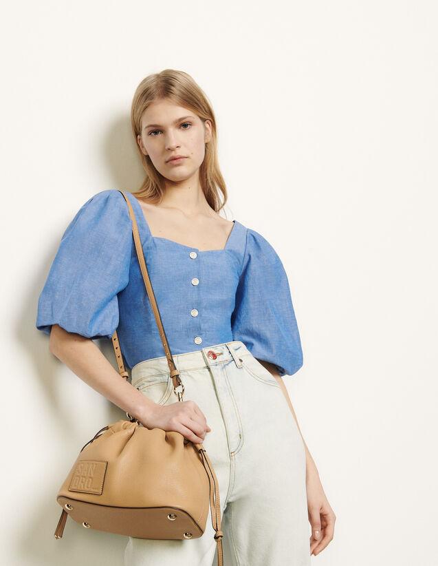 Chemise à manches bouffantes : FNouveautes-Lastweek couleur Bleu