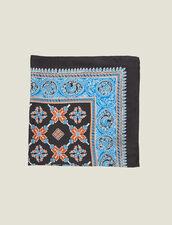 Foulard In Seta Stampata : null colore Blu