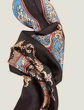 Foulard in seta con stampa barocca : FBlackFriday-FR-FSelection-AutresAccessoires colore Nero