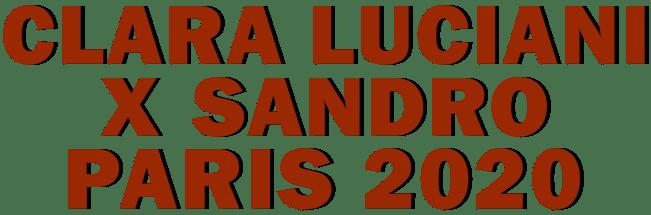 SANDRO & CLARA LUCIANI PARIS 2020