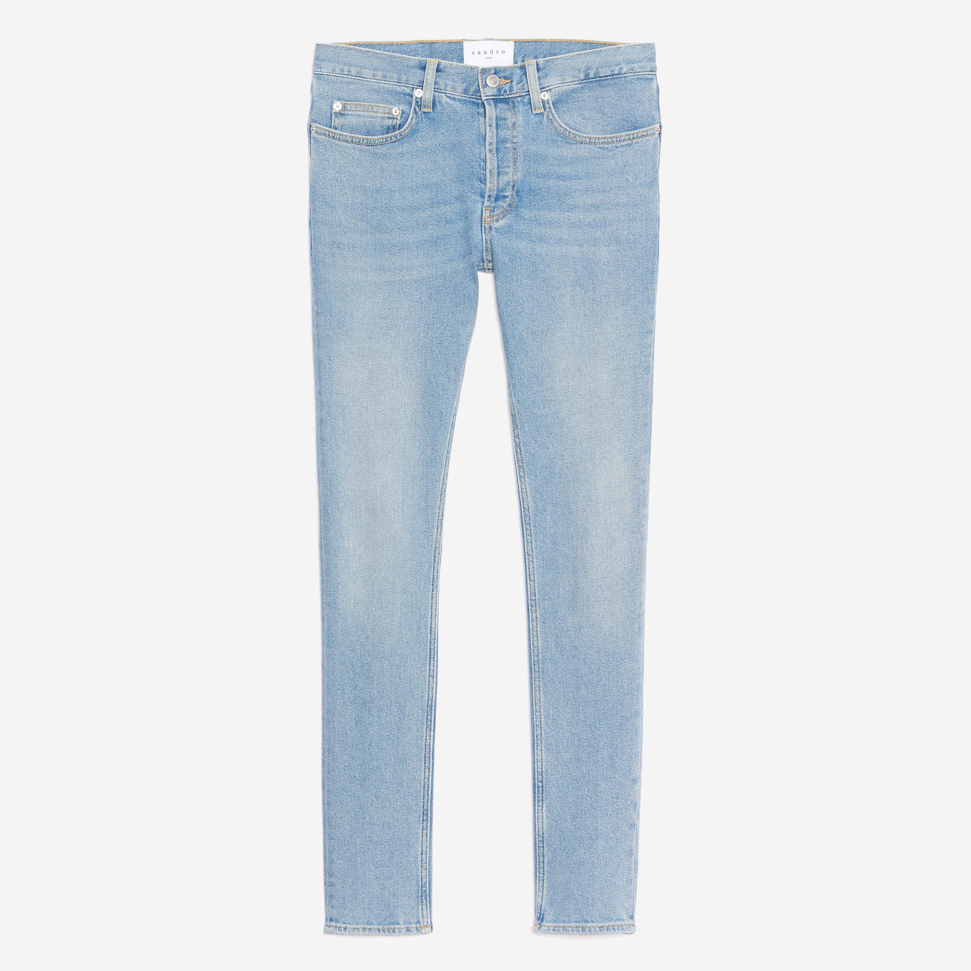 Jeans chiaro délavé - Skinny : Jeans colore Blu Chiaro