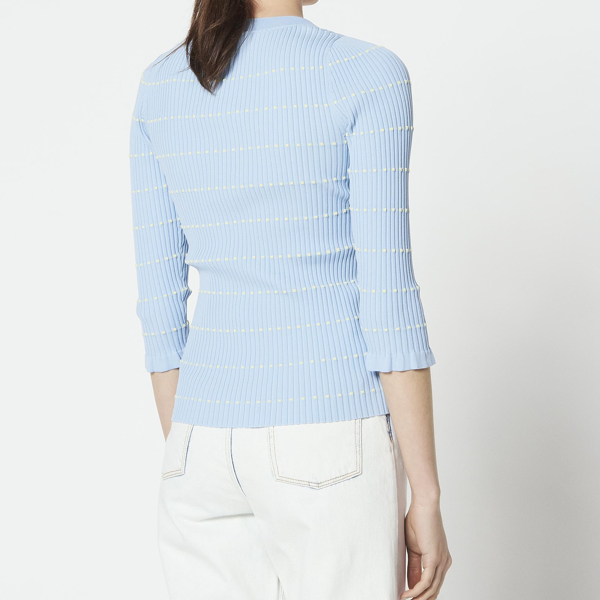 Pullover in maglia con laccio e pompon : Maglieria & Cardigan colore Sky Blue