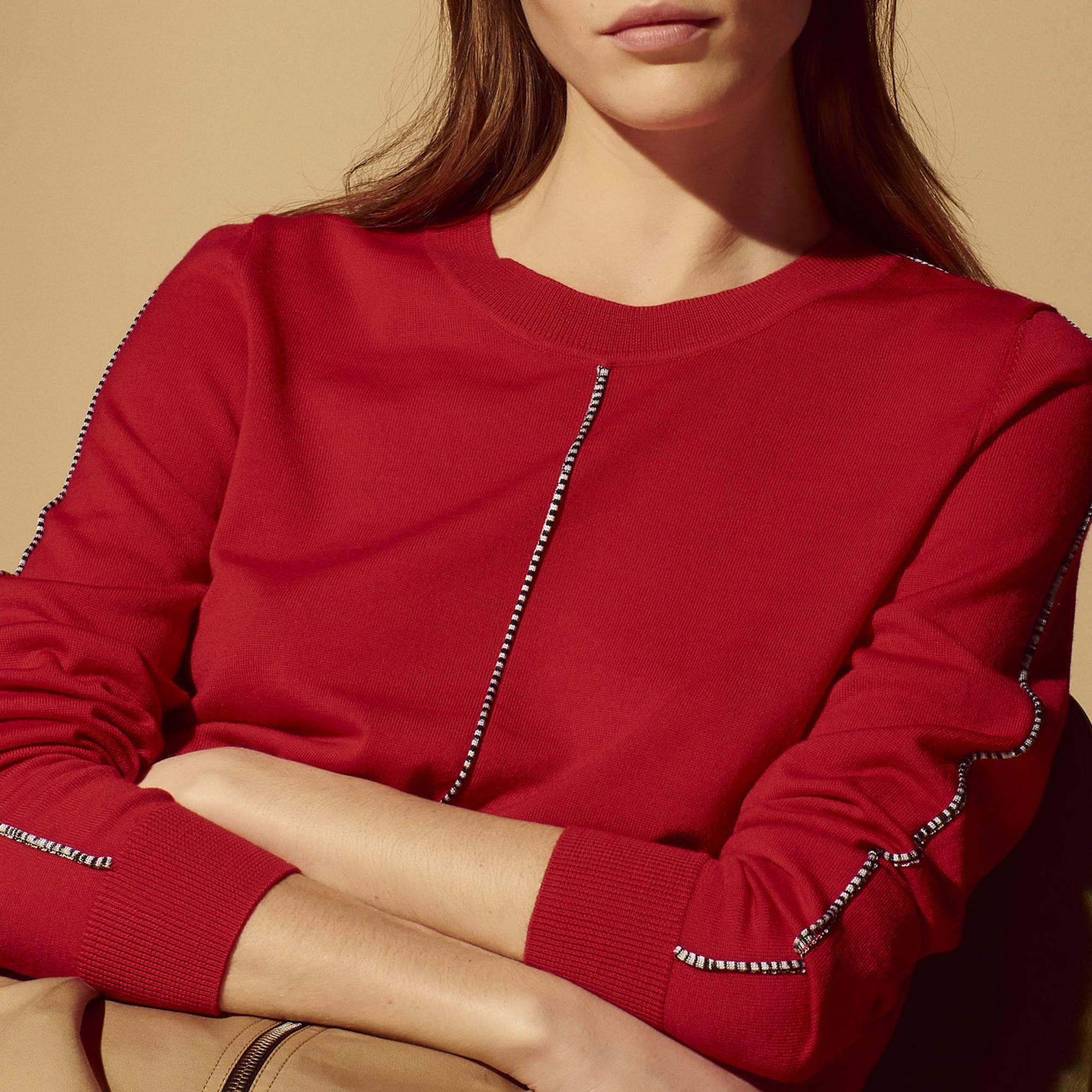 Pullover in lana con decorazioni : Collezione Estiva colore Rosso