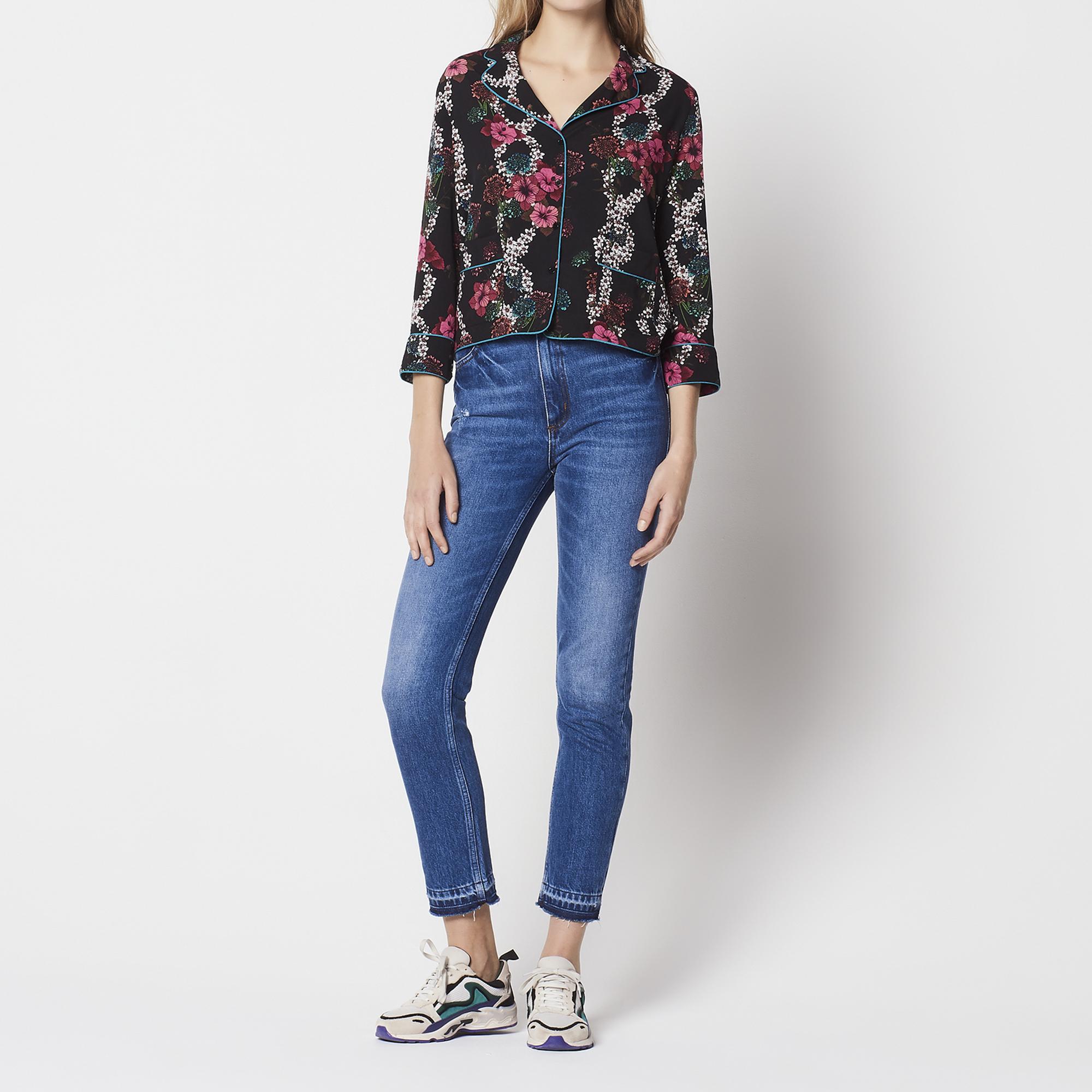 Camicia con stampa floreale all-over : Top & Camicie colore Nero